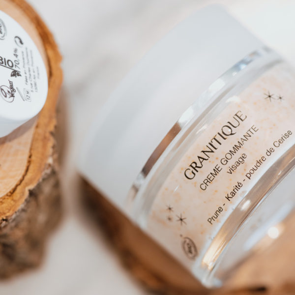 crème gommante françaisie bio