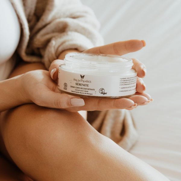 This vanilla and sweet orange body cream has a gorgeous texture