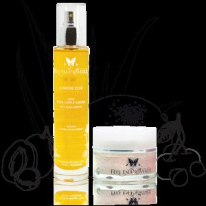 Ensemble de produits cosmétiques bio et gourmands pour le corps