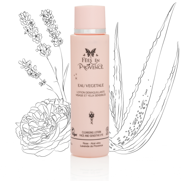 Organic cleansing lotion for sensitive eyes and face