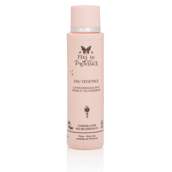 Organic cleansing lotion with a delicious scent of rose and lavender