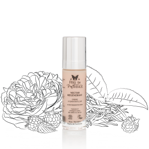 Moisturizes and protects the skin from the effects of time