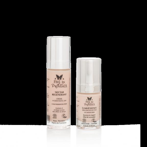 Offre spéciale crème hydratante bio et soin contour des yeux bio